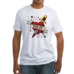 Meh Tattoo Fitted T-Shirt