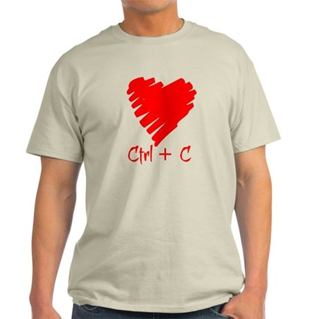 For Him: Ctrl + C Light T-Shirt