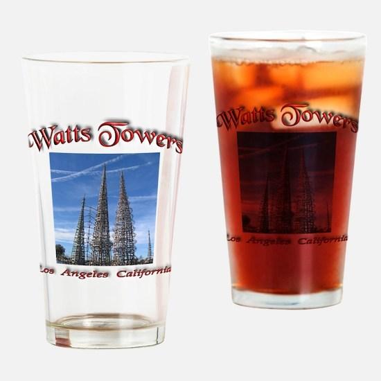 Watts Towers Drinking Glass