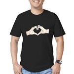 Heart Hands Men's Fitted T-Shirt (dark)