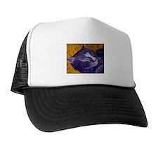 Cute Purple cat Trucker Hat