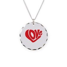 Cute I Heart Love Valentines Day Necklace
