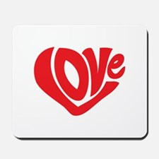 Cute I Heart Love Valentines Day Mousepad