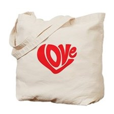 Cute I Heart Love Valentines Day Tote Bag