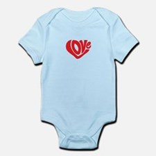 Cute I Heart Love Valentines Day Infant Bodysuit