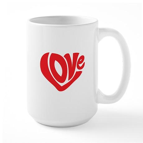 Cute I Heart Love Valentines Day Large Mug