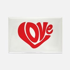 Cute I Heart Love Valentines Day Rectangle Magnet