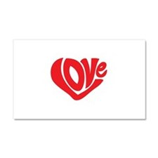 Cute I Heart Love Valentines Day Car Magnet 20 x 1