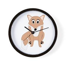 Fox Design Wall Clock