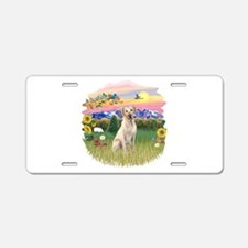 Mt. Country - Yellow Lab #8 Aluminum License Plate