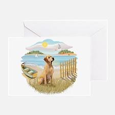 Row Boat-Yellow Lab #8 Greeting Card