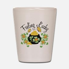 Feeling Lucky Pot of Gold Shot Glass