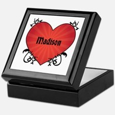 Custom Name Tattoo Heart Keepsake Box