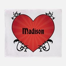 Custom Name Tattoo Heart Throw Blanket