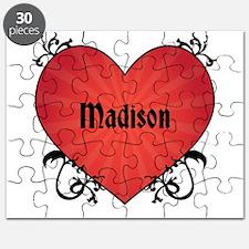 Custom Name Tattoo Heart Puzzle
