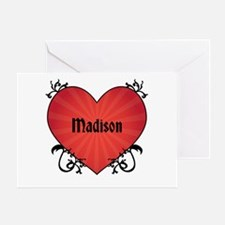 Custom Name Tattoo Heart Greeting Card