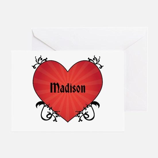 Custom Name Tattoo Heart Greeting Card