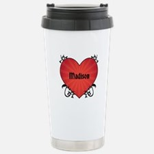 Custom Name Tattoo Heart Travel Mug