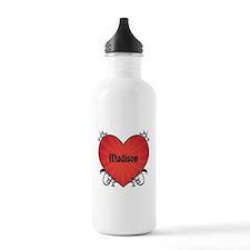 Custom Name Tattoo Heart Water Bottle