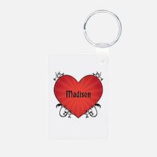 Custom Name Tattoo Heart Keychains