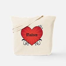 Custom Name Tattoo Heart Tote Bag