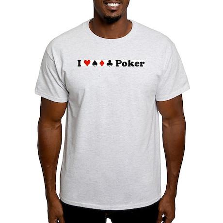 I Love all Suits Ash Grey T-Shirt