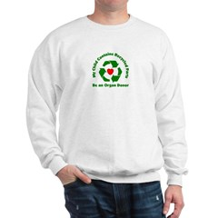 Sweatshirt my child contains recycled pa