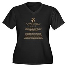 Capricorn Women's Plus Size V-Neck Dark T-Shirt