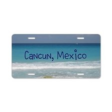 Unique Cancun Aluminum License Plate