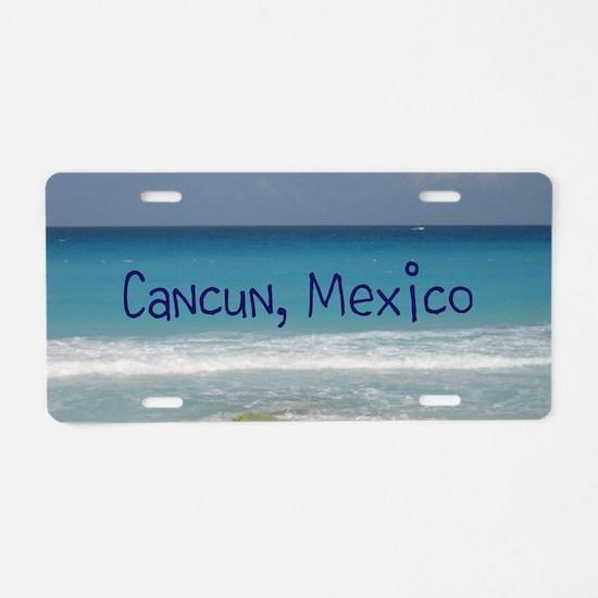 Cute Cancun Aluminum License Plate