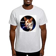 Red Heeler Ash Grey T-Shirt