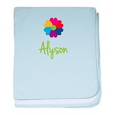 Alyson Valentine Flower baby blanket