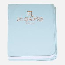 Scorpio baby blanket