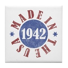 1942 Made In The USA Tile Coaster