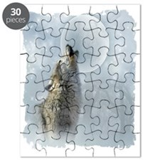 Wolf Blue Moon Puzzle
