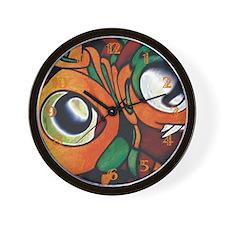 Mayan Eyes Wall Clock