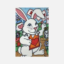 Unique The mad bunny Rectangle Magnet