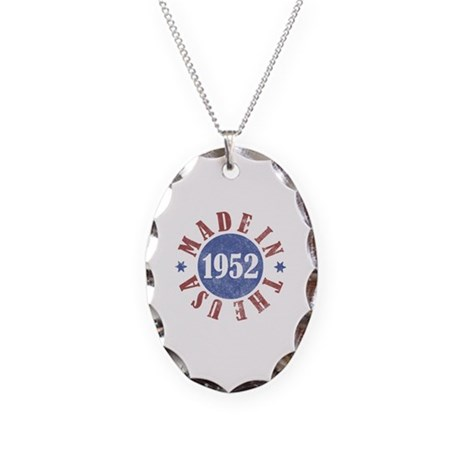 1952 Made In The USA Necklace Oval Charm