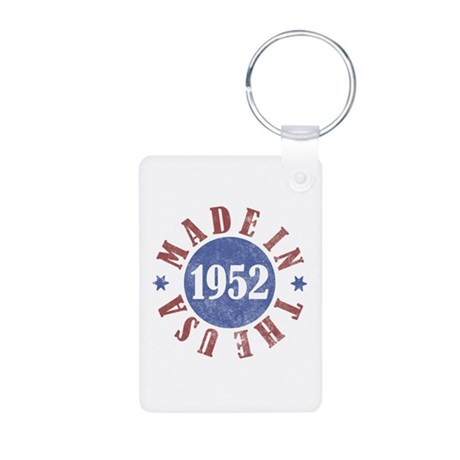 1952 Made In The USA Aluminum Photo Keychain