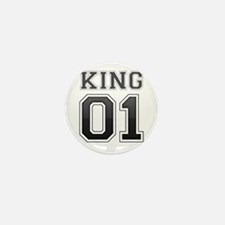 king and queen couple Mini Button (10 pack)