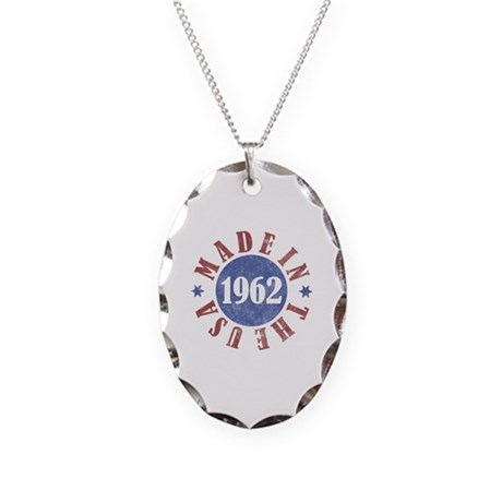 1962 Made In The USA Necklace Oval Charm