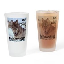 Wolf YNP, Wyoming Drinking Glass