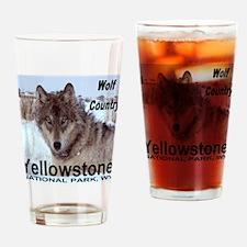 Wolf YNP, Wyoming Drinking Glass