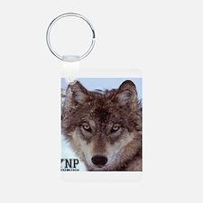 Wolf YNP, Wyoming Aluminum Photo Keychain