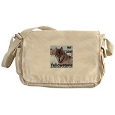 Wolf YNP, Wyoming Messenger Bag