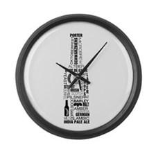 Bottle of Beer Large Wall Clock