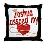 Joshua Lassoed My Heart Throw Pillow
