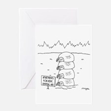 Central Air in Igloos Greeting Card