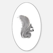Painted Squirrels (grey) Sticker (Oval)