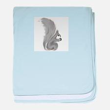 Painted Squirrels (grey) baby blanket